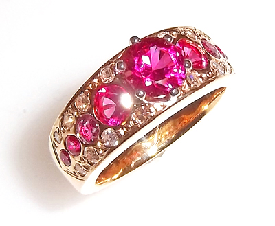 Carolyn Hendricks ring includes rubies from her mother and grandmother, her father's 20-year service pin, and a business fraternity ring from her brother.
