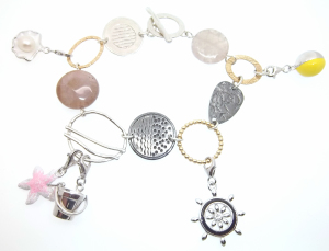 Beach-themed charm bracelet donated to the silent auction.