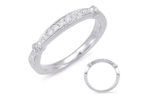 14kt white gold wedding band (matching engagement ring is item #549) with .21ctw diamonds